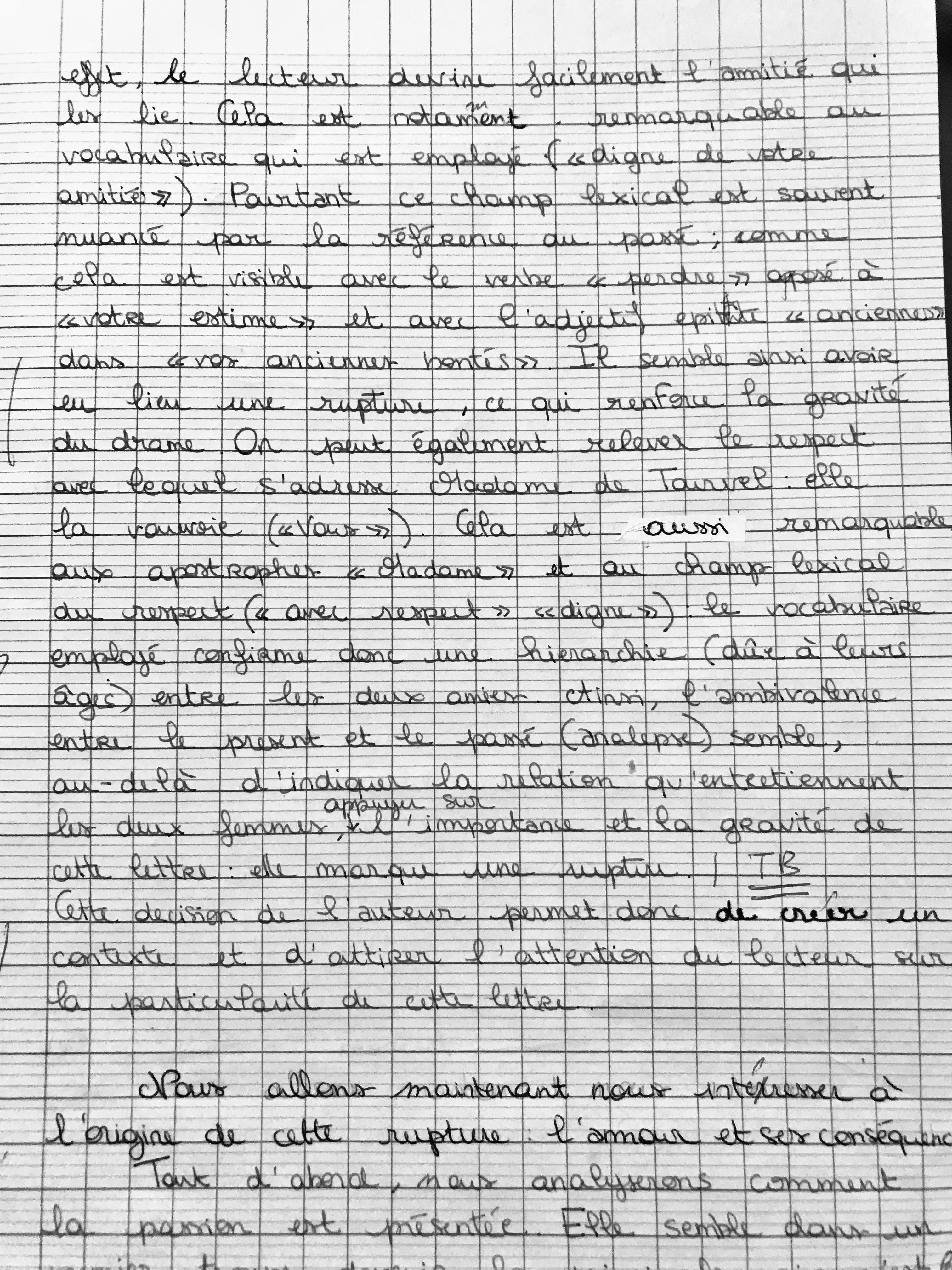 1e Correction Du Ds Commentaire Litteraire Laclos Bastide En Lettres