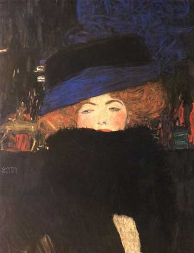 Klimt Lady_with_Hat_and_Feather_Boa_f